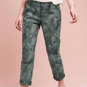 Anthropologie Hei Hei Green Tie Dye Cargo Pants 28